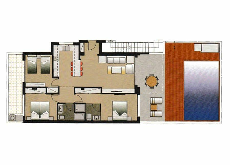 Plattegrond Amay 880 | Appartement huren Costa Blanca